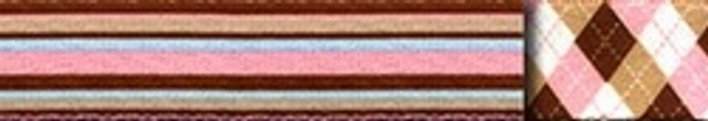 Pink and Brown Stripes Dog Leash