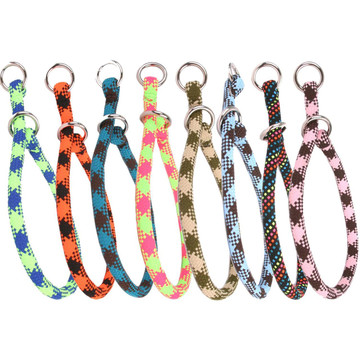 Braided Rope Multi Color Training Dog Collar