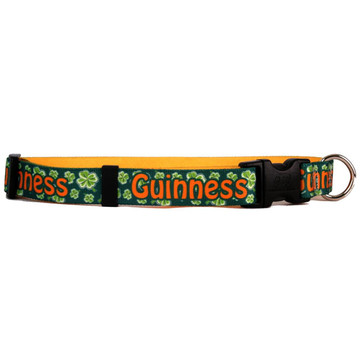Personalized 4 Leaf Clover Dog Collar
