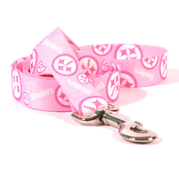 Pittsburgh Steelers PINK Dog Leash by Yellow Dog Design df483546a