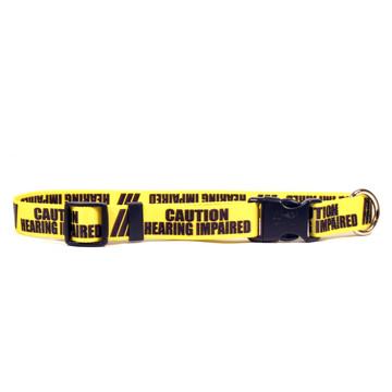 1 Inch - Caution Hearing Imparied Dog Collar
