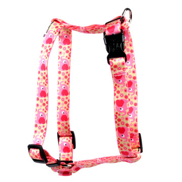 "Pink Elephants Roman Style ""H"" Dog Harness"