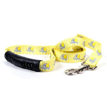 Yellow Elephants EZ-Grip Dog Leash