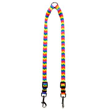 Rainbow Chevron Coupler Dog Leash