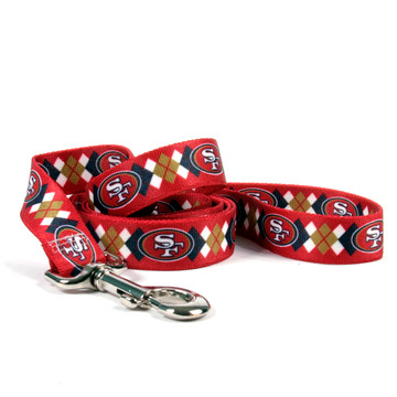San Francisco 49ers Argyle Dog Leash