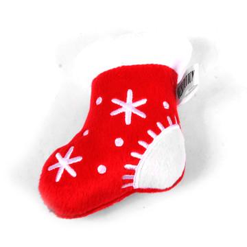 Holiday Stocking Plush Squeaker Dog Toy