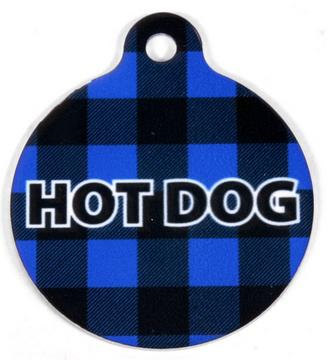 Buffalo Plaid Blue HD Pet ID Tag