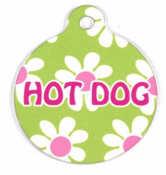 Green Daisy HD Pet ID Tag