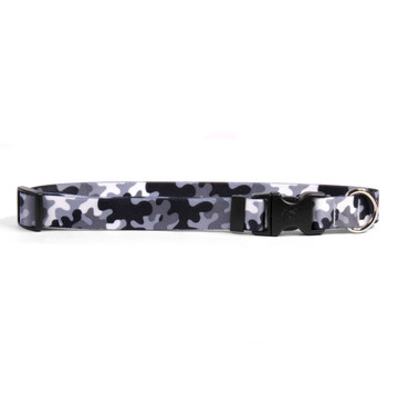 Black and White Camo Dog Collar