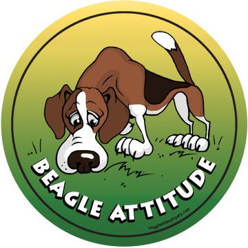 Beagle Attitude Magnet