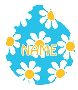 Blue Daisy HD Dog ID Tag