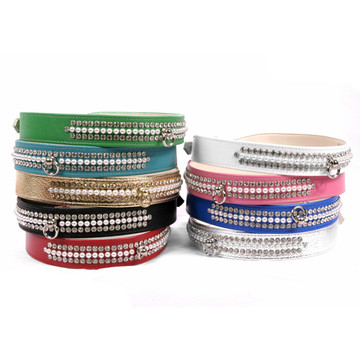 Crystal and Pearls Dog Collar