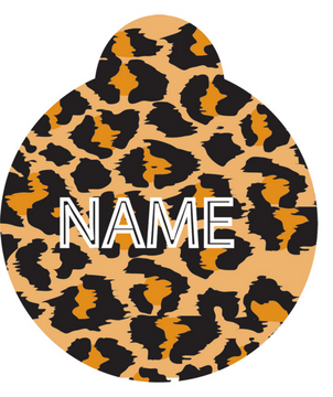 Leopard Print HD Pet ID Tag