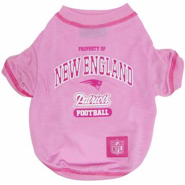 New England Patriots NFL Football PINK Pet T-Shirt