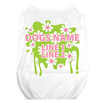 Personalized Green Daisy Pet T-Shirt