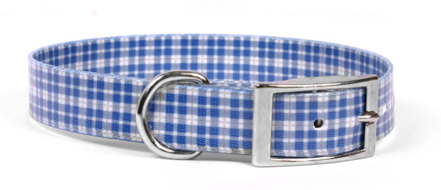 Preppy Boy Plaid Elements Dog Collar