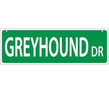 Greyhound Street Sign