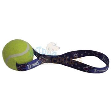 Tennessee Titans  Tennis Ball Tug Dog Toy