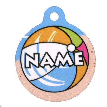 Beach Party HD Pet ID Tag