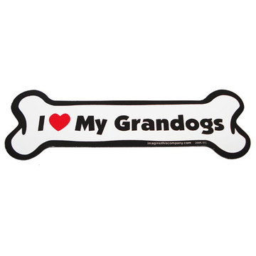 I Love My Grandogs Bone Magnet
