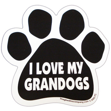 I Love My Grandogs Paw Magnet