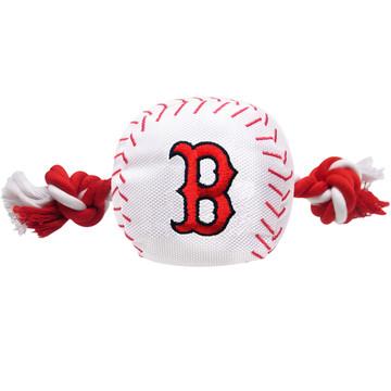 Boston Red Sox Nylon Rope Squeaker Dog Toy