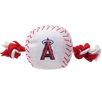 Anaheim Angels Nylon Rope Baseball Squeaker  Dog Toy