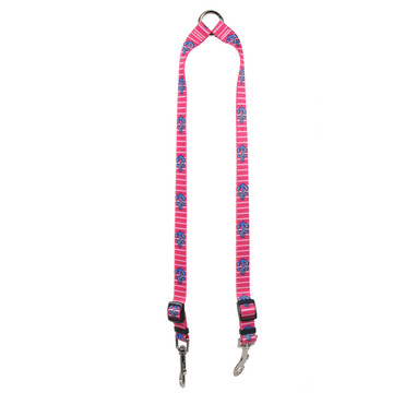Anchors on Pink Stripes Coupler Dog Leash