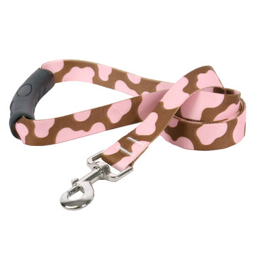 Pink Cow EZ-Grip Dog Leash