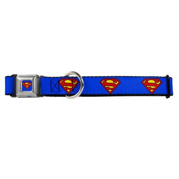Superman Buckle-Down Seat Belt Buckle Dog Collar