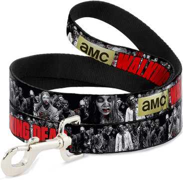 AMC The Walking Dead Zombies Buckle Down Dog Leash