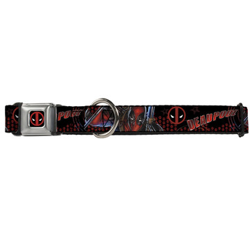 Deadpool Logo Buckle-Down Seat Belt Buckle Dog Collar