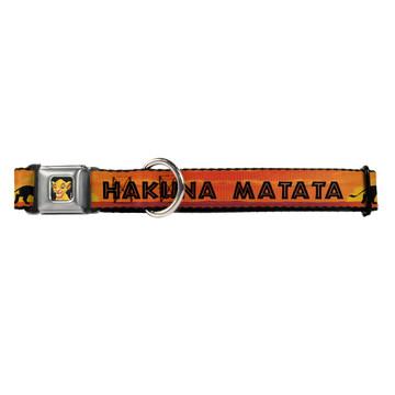 Lion King Hakuna Matata Simba Buckle-Down Seat Belt Buckle Dog Collar
