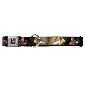 Marvel Avengers Assemble Iron Man Buckle-Down Seat Belt Buckle Dog Collar