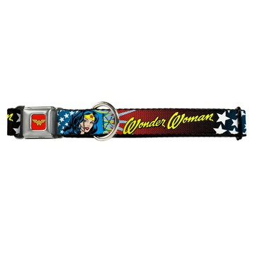 Wonder Woman Buckle-Down Seat Belt Buckle Dog Collar