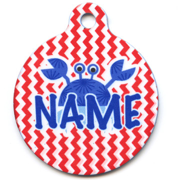 Crab Crazy HD Pet ID Tag