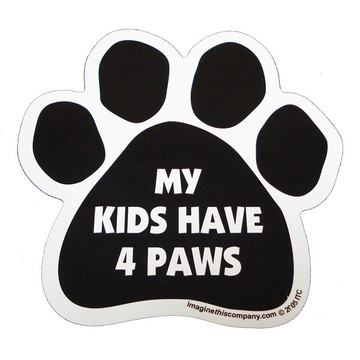My Kids Have Four Paws Paw Magnet