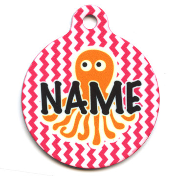 Playful Octopus HD Pet ID Tag
