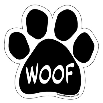 Woof Paw Magnet