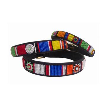Circle of Life Beaded Kenyan Dog Collar