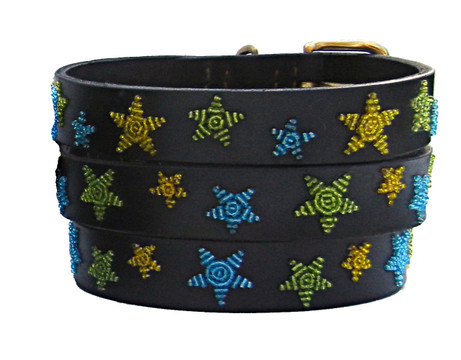 Limited Edition Shooting Stars Beaded Kenyan Dog Collar