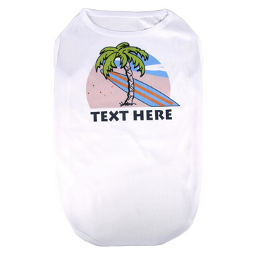 Personalized Beach Party Pet T-Shirt
