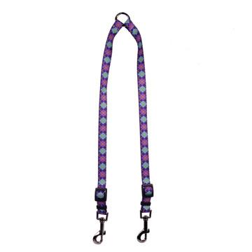 Argyle Purple Coupler Dog Leash