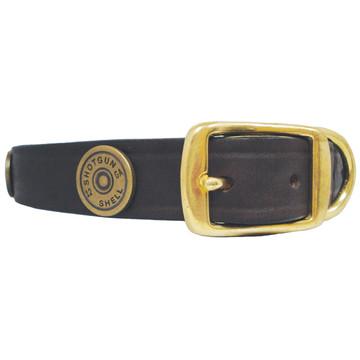 Shotgun Shell Leather Dog COLLAR