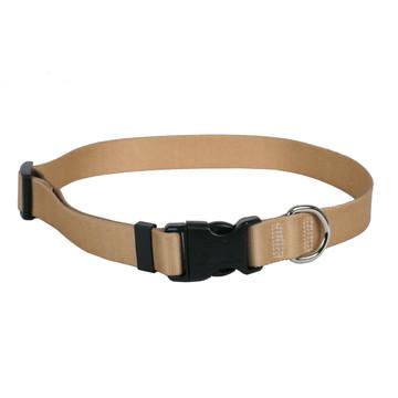 Tan Simple Solid Dog Collar