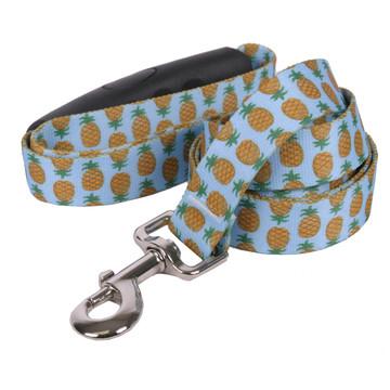 Pineapples Blue EZ-Grip Dog Leash