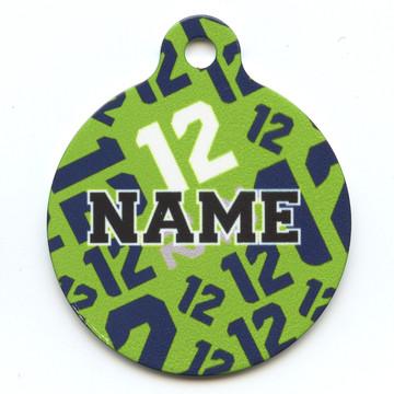 12th Dog GreenHD Pet ID Tag