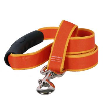 Sterling Stripes Orange and Goldenrod Dog Leash