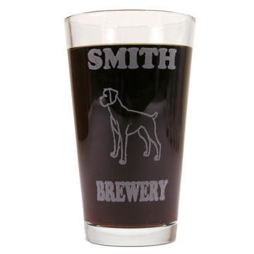 Personalized Pint Glass Beer Mug For Boxers