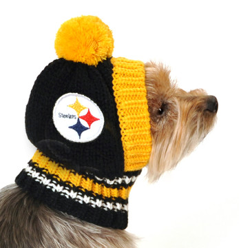 6df24f7c43c Pittsburgh Steelers NFL Football Knit Hat For Dogs - Hot Dog Collars